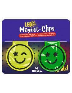 LED Magnet-Clips Smiley