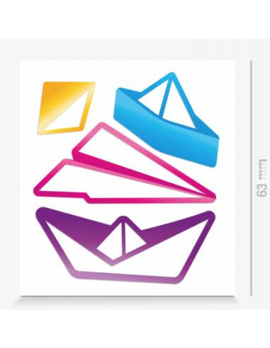 Reflektierende Sticker Paperfold
