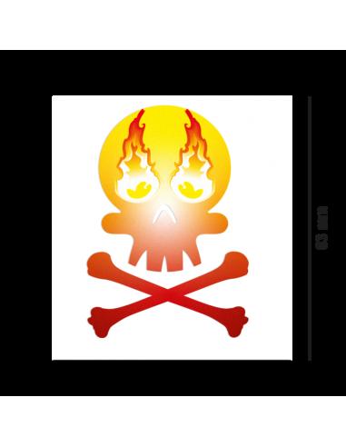 Reflektierender Sticker Skull
