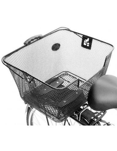 Pletscher- Einkaufskorb mit Adapter, schwarz
