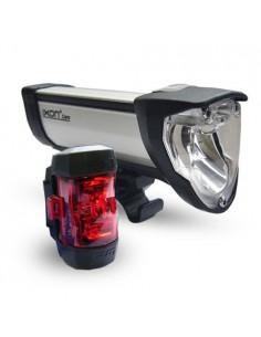 Lichtset IXON CORE IQ2 Akku-Scheinwerfer mit Rücklicht