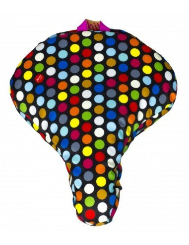 Liix Sattelüberzug *Polka Big Dots Mix* schwarz