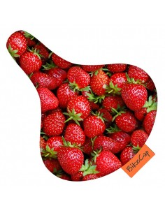 Bike Cap protège de selle *strawberries*