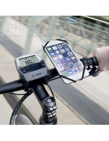 Smartphone Halterung an Lenker von KlickFix