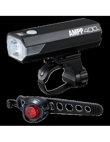 Cateye AMPP400 feu et ORB feu arrière